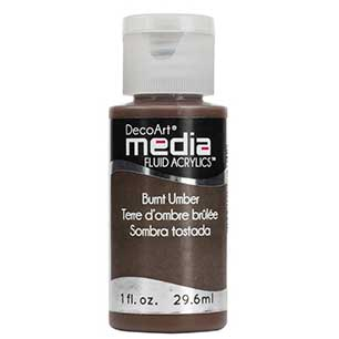 DecoArt Media Fluid Acrylic Paint - Burnt Umber