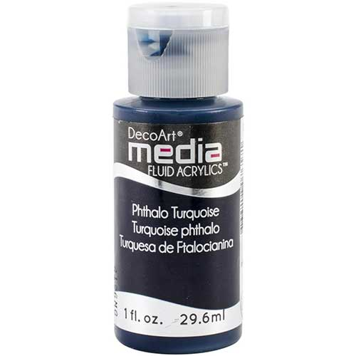 DecoArt Media Fluid Acrylic Paint - Phthalo Turquoise
