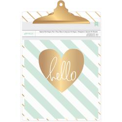 "Clipboard with Print 9X12.5"" - Diagonal Stripes"