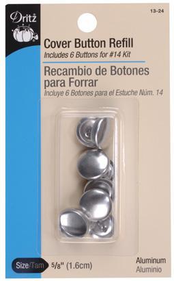 מילוי כפתורים לציפוי בבד - Refill Cover Button - Size 24