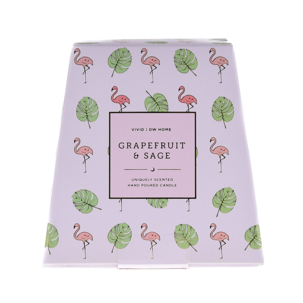 נר דגם פלמינגו זהב - Grapefruit & Sage