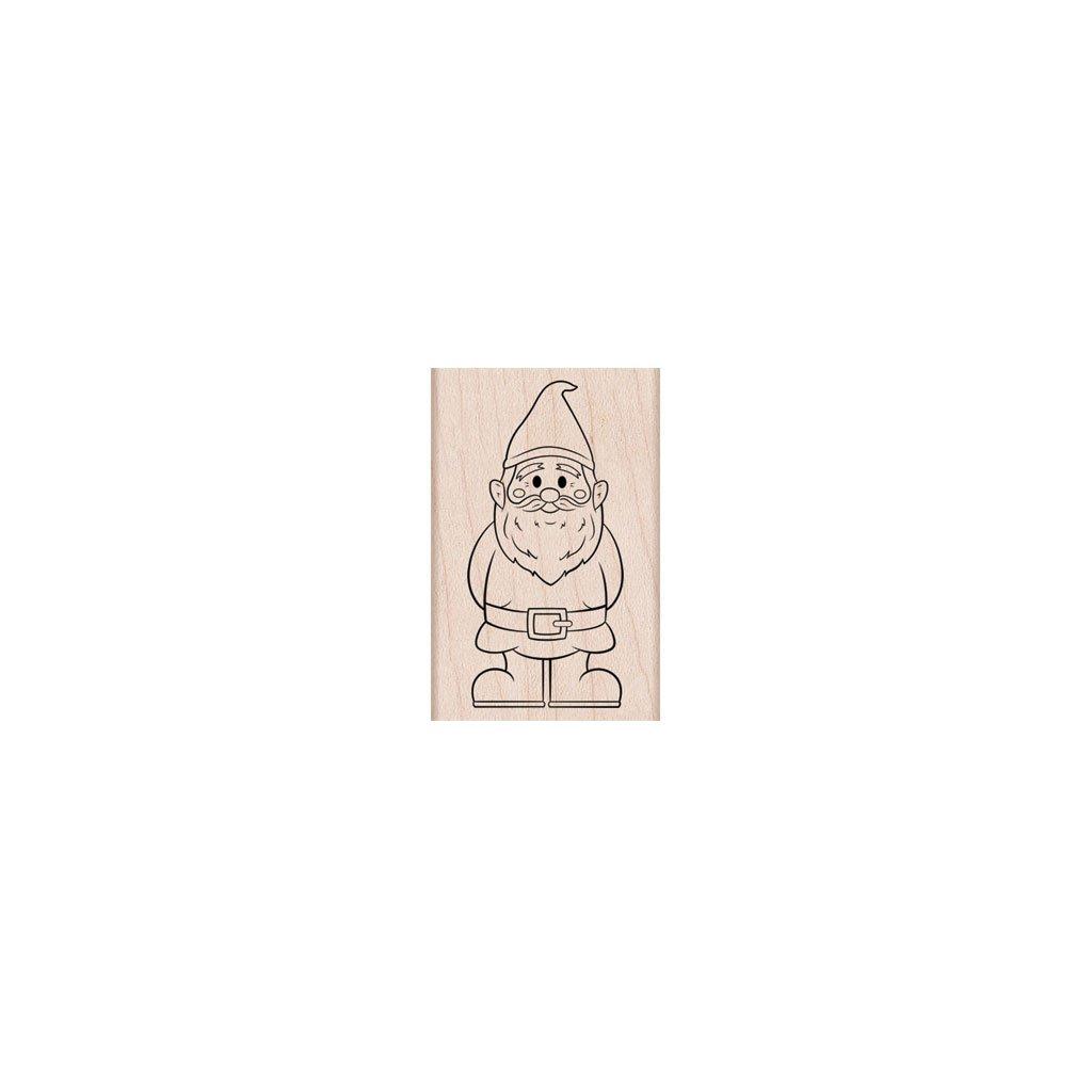 חותמת עץ- GARDEN GNOME
