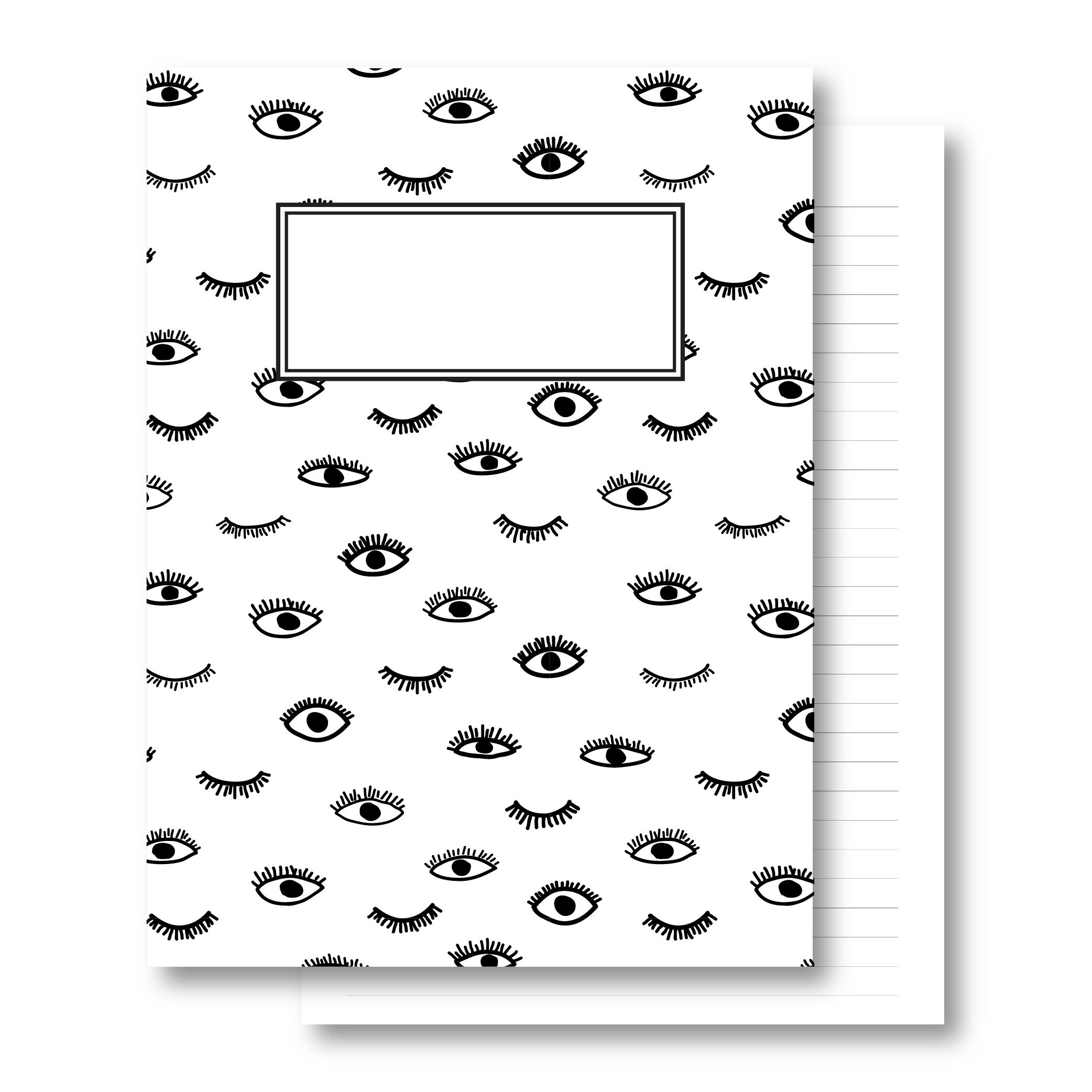 מחברת כריכה קשה - עיניים - דפי שורה
