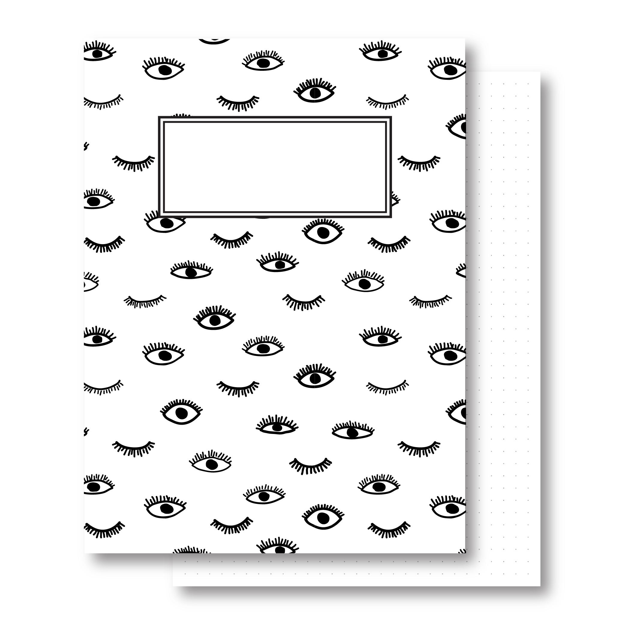 מחברת כריכה קשה - עיניים - דפים מנוקדים