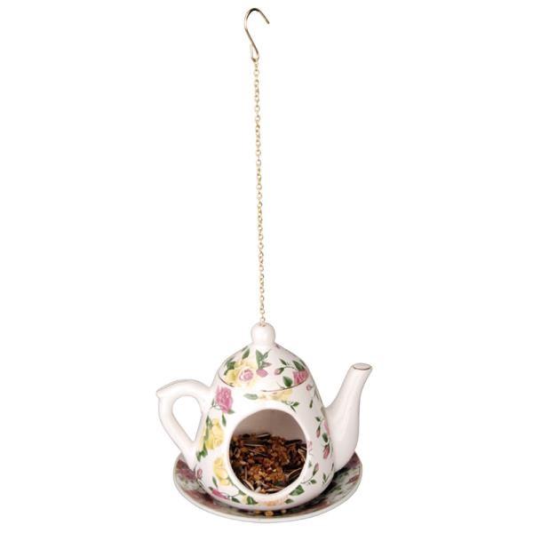 מתקן האכלה קנקן תה - פרחים צהובים