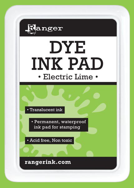 Ranger Dye Ink Pad - Electric Lime - דיו Dye