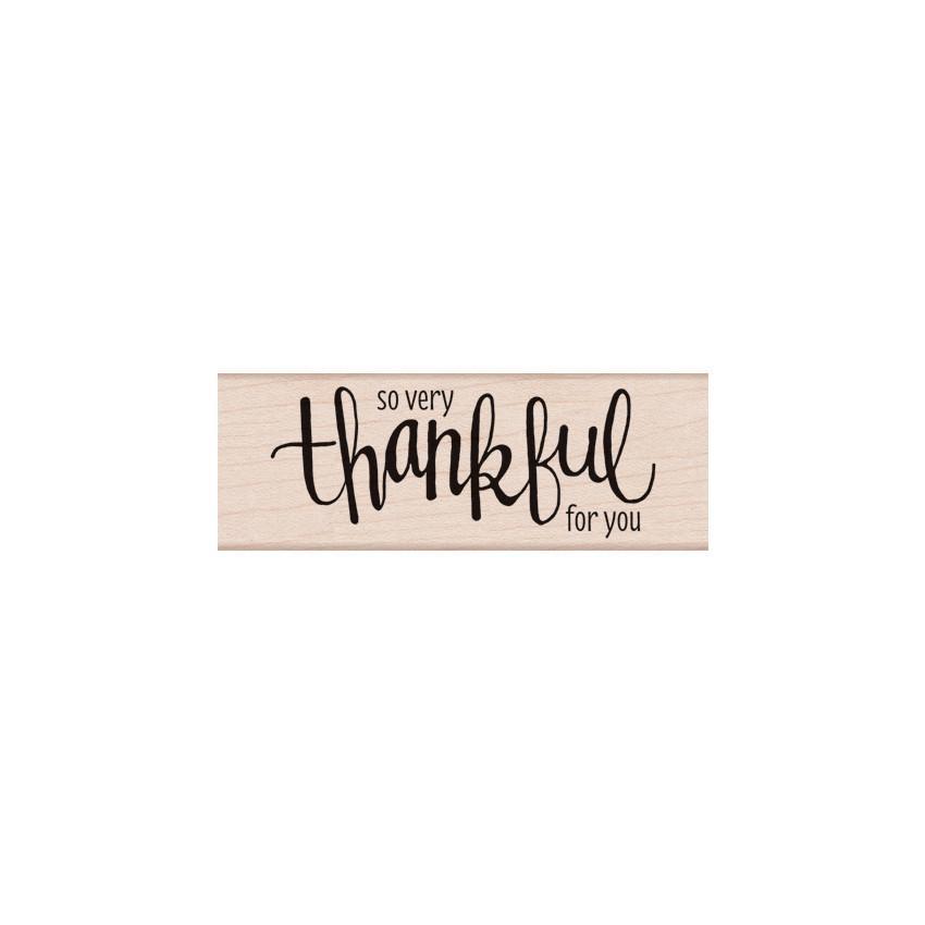 חותמת עץ- THANKFUL