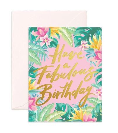 כרטיס ברכה- Fabulous Birthday Greeting Card