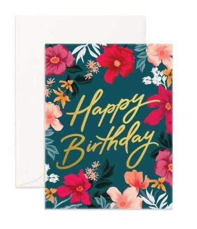 כרטיס ברכה-  Happy Birthday Florentine Greeting Card