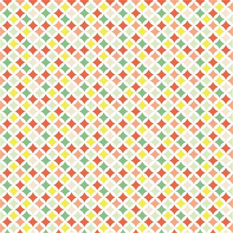 דף קארדסטוק - מסטיק לימון - גיאומטרי צבעוני