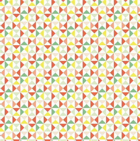 דף קארדסטוק - מסטיק לימון - משולשים צבעוניים