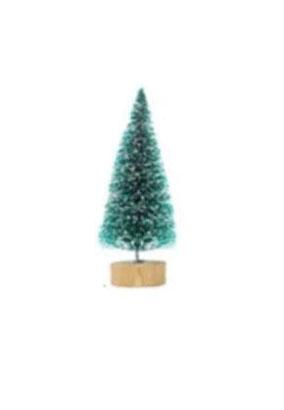 עץ אשוח מיניאטורי - ירוק עם שלג - מיני