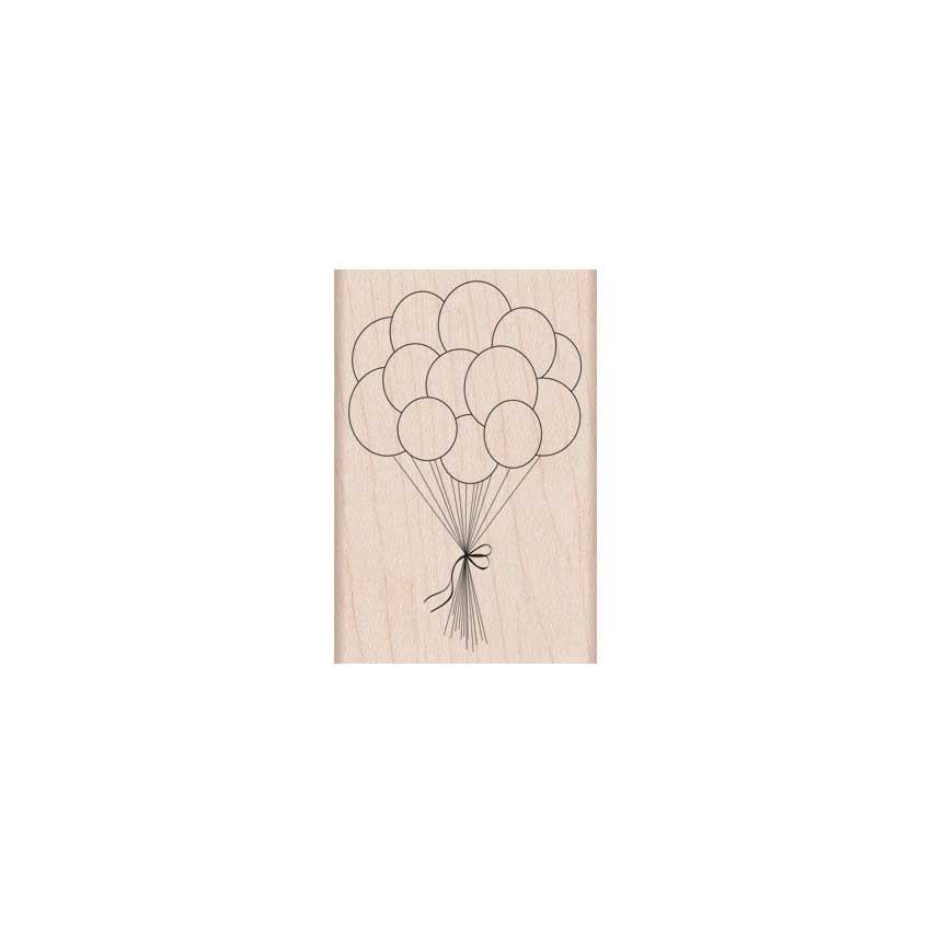 חותמת עץ - BIRTHDAY BALLOONS