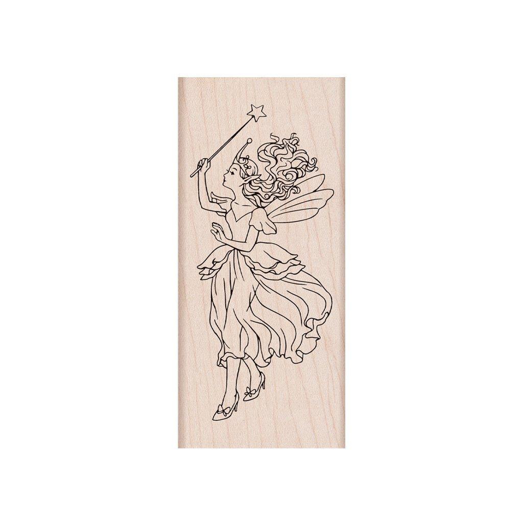 חותמת עץ - FAIRY QUEEN