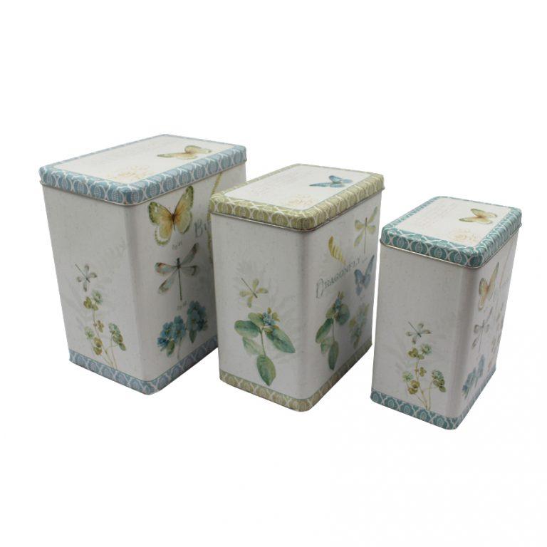 סט קופסאות פח פרפרים