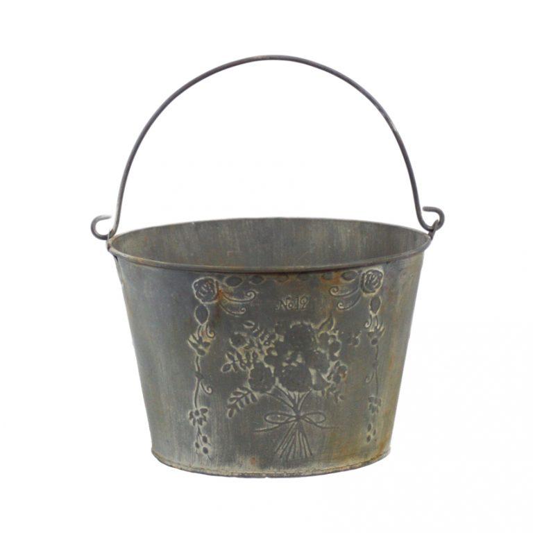 דלי מפח מגלוון עגול- Bouquet