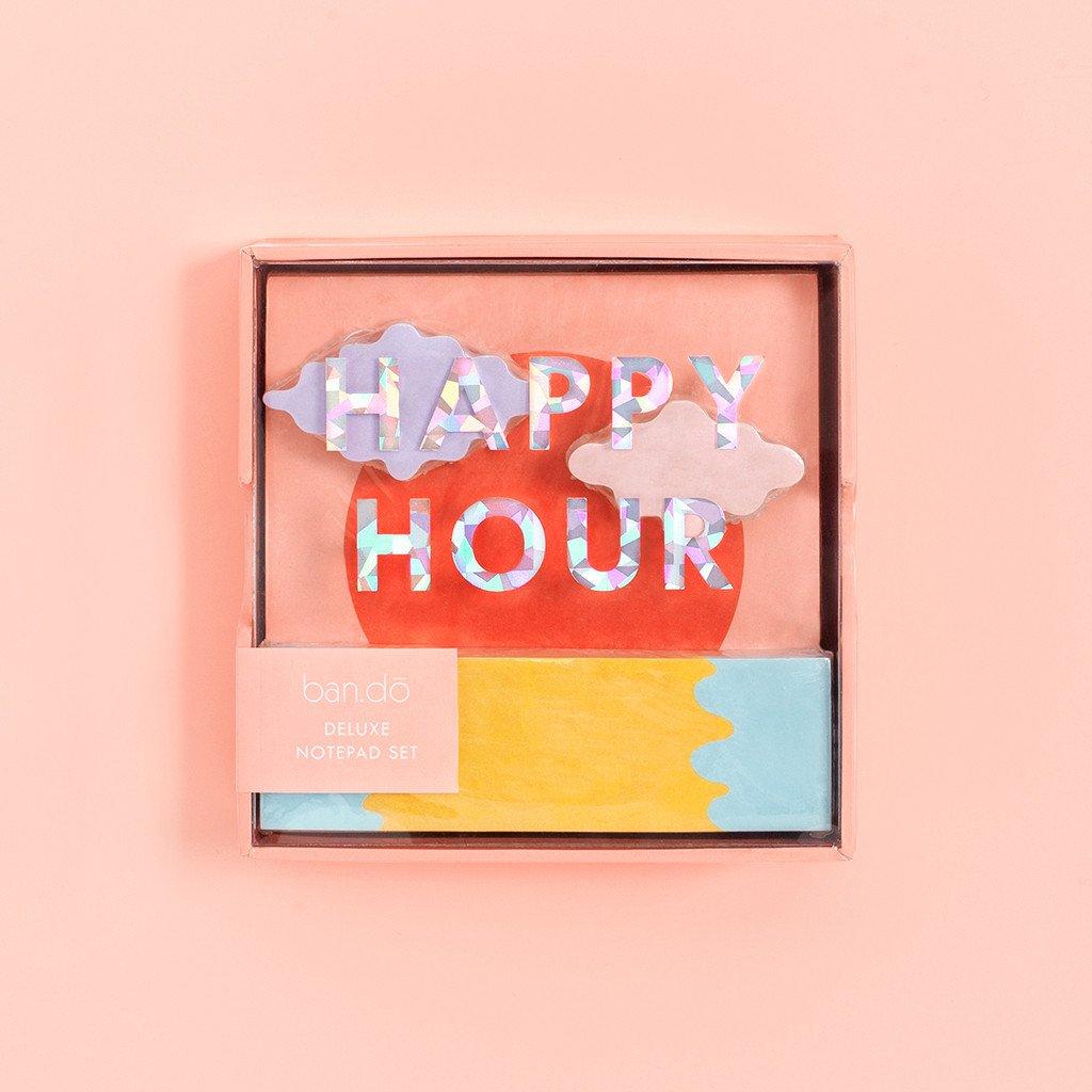 מארז דלוקס - מארז דפים שולחני HAPPY HOUR