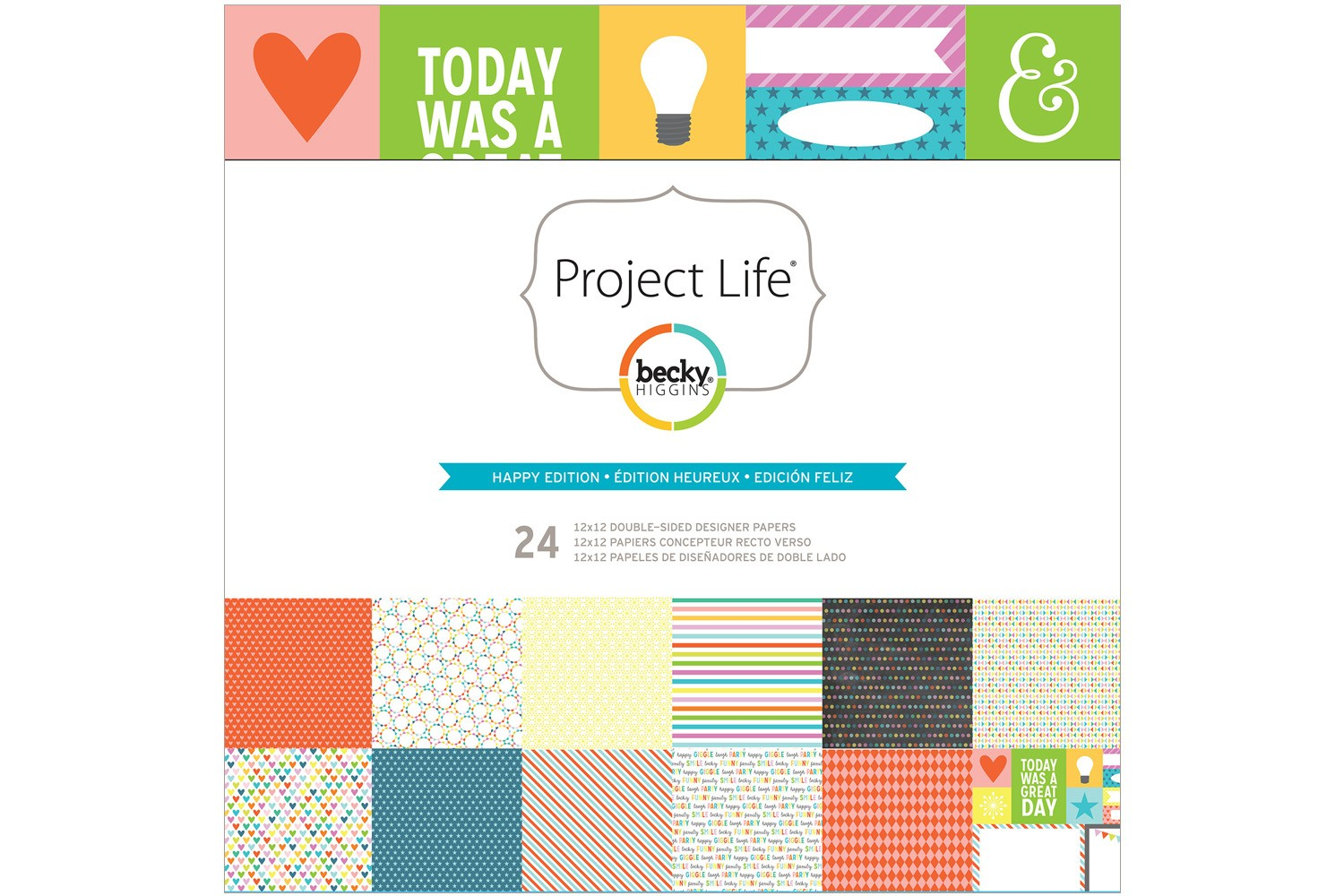 """Happy Edition 12""""x12"""" Paper Collection Pack"""