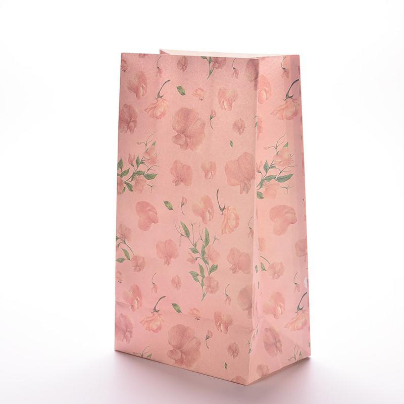 מארז שקיות נייר פרחוניות - ורוד
