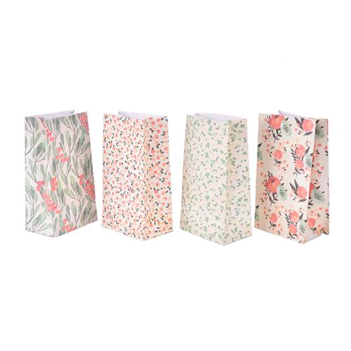 מארז שקיות נייר פרחוניות - 4 יחידות