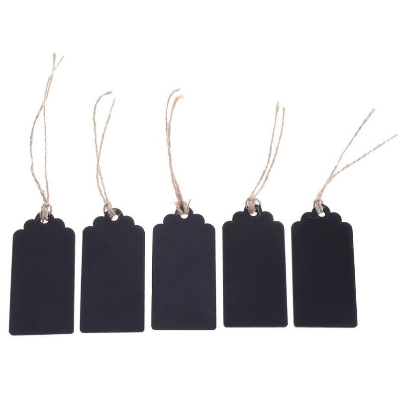 מארז 5 תגיות עץ שחורות
