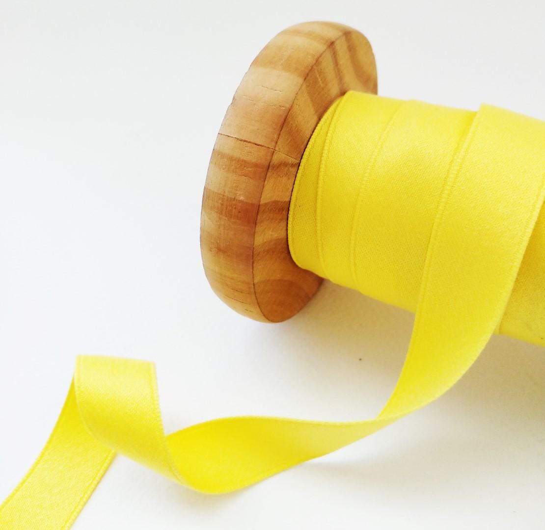 סרט סאטן מאט - צהוב
