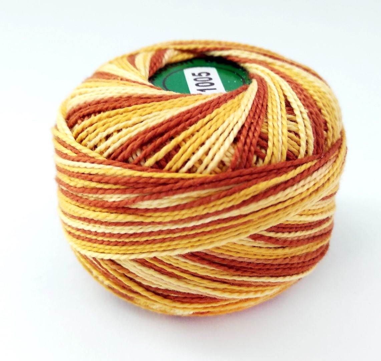 חוט רקמה - גווני חום צהוב