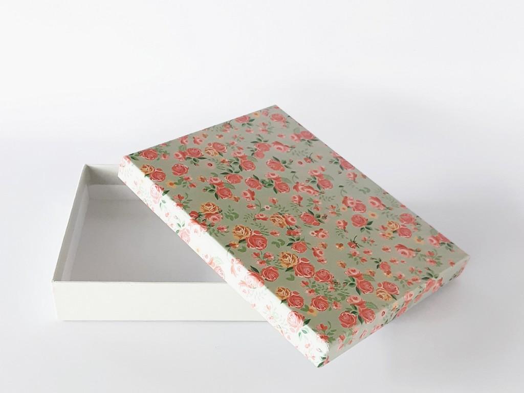 קופסת קרטון מעוצבת- מנטה פרחוני
