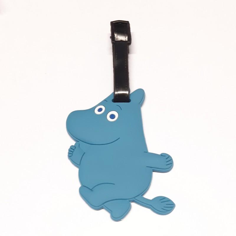תג מומינים למזוודה - מומין כחול