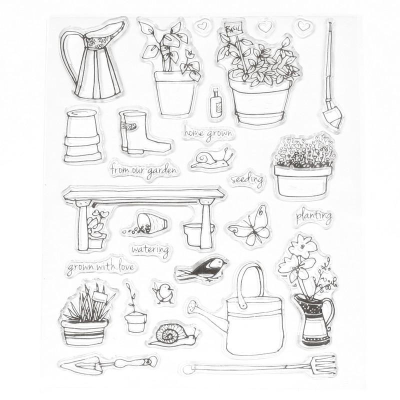 סט חותמות סיליקון - מהגינה באהבה