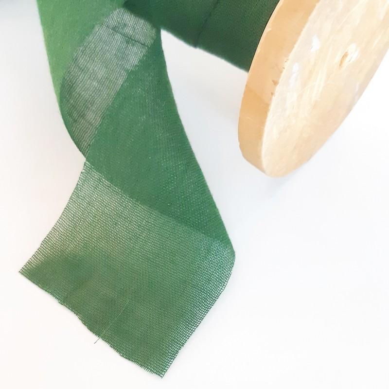 סרט כותנה שווצרית - ירוק בקבוק