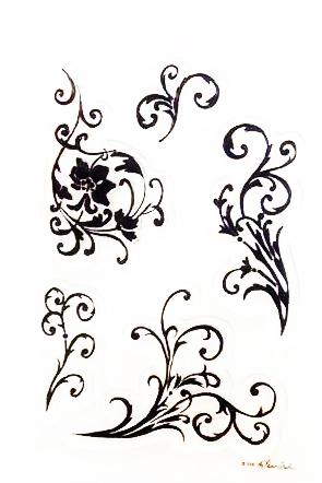 חותמות סיליקון - Floral Flourish - Clear Stamp Set