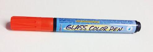 טוש לזכוכית - Glass Color Pen - Orange