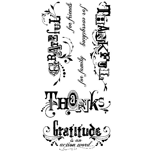 חותמות סיליקון - Thankful - Clear Stamp Set