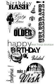 חותמות סיליקון - Birthday Fun - Clear Stamp Set