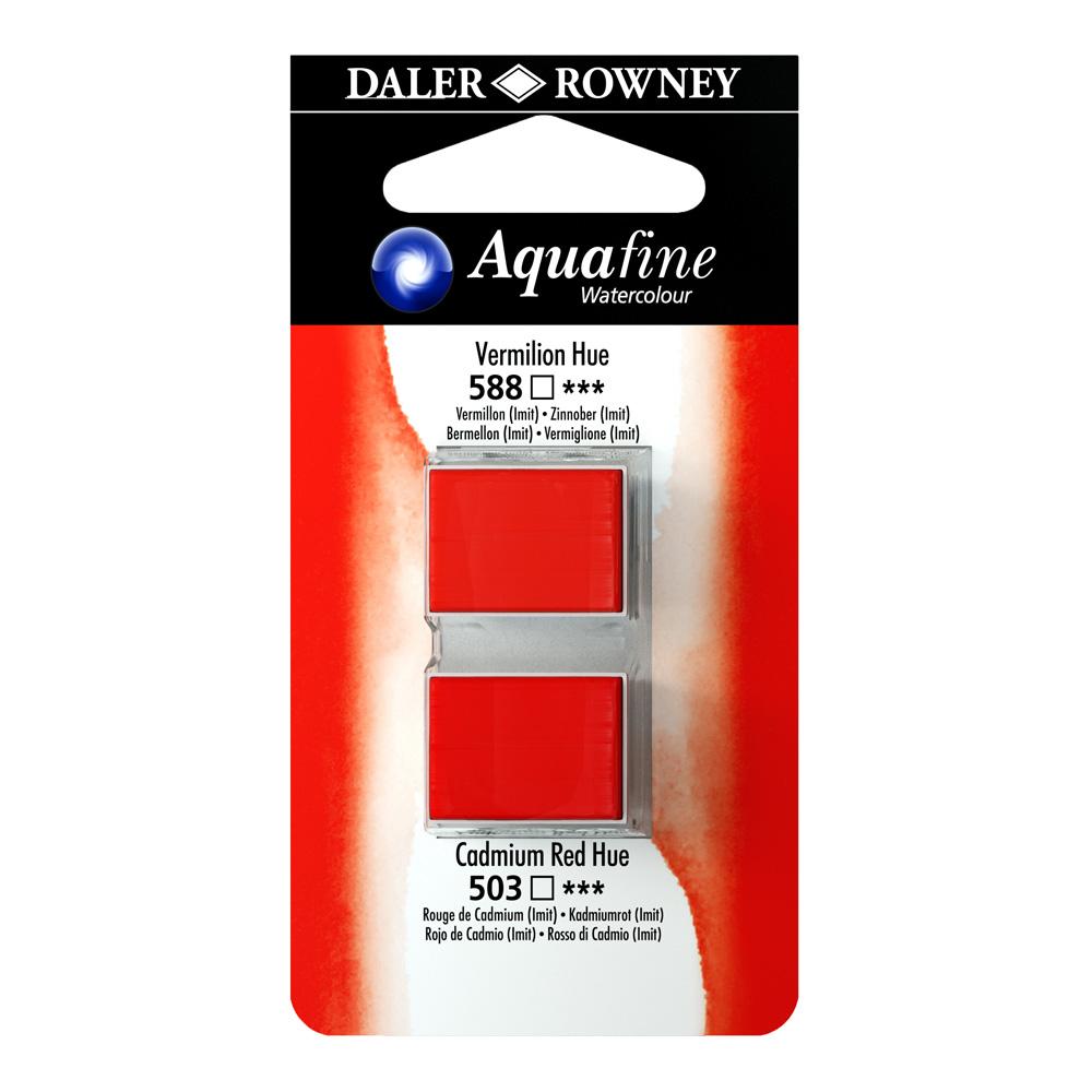 זוג קוביות צבעי מים 588/503 אדומים