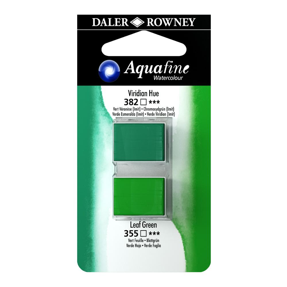זוג קוביות צבעי מים 382/355 ירוקים