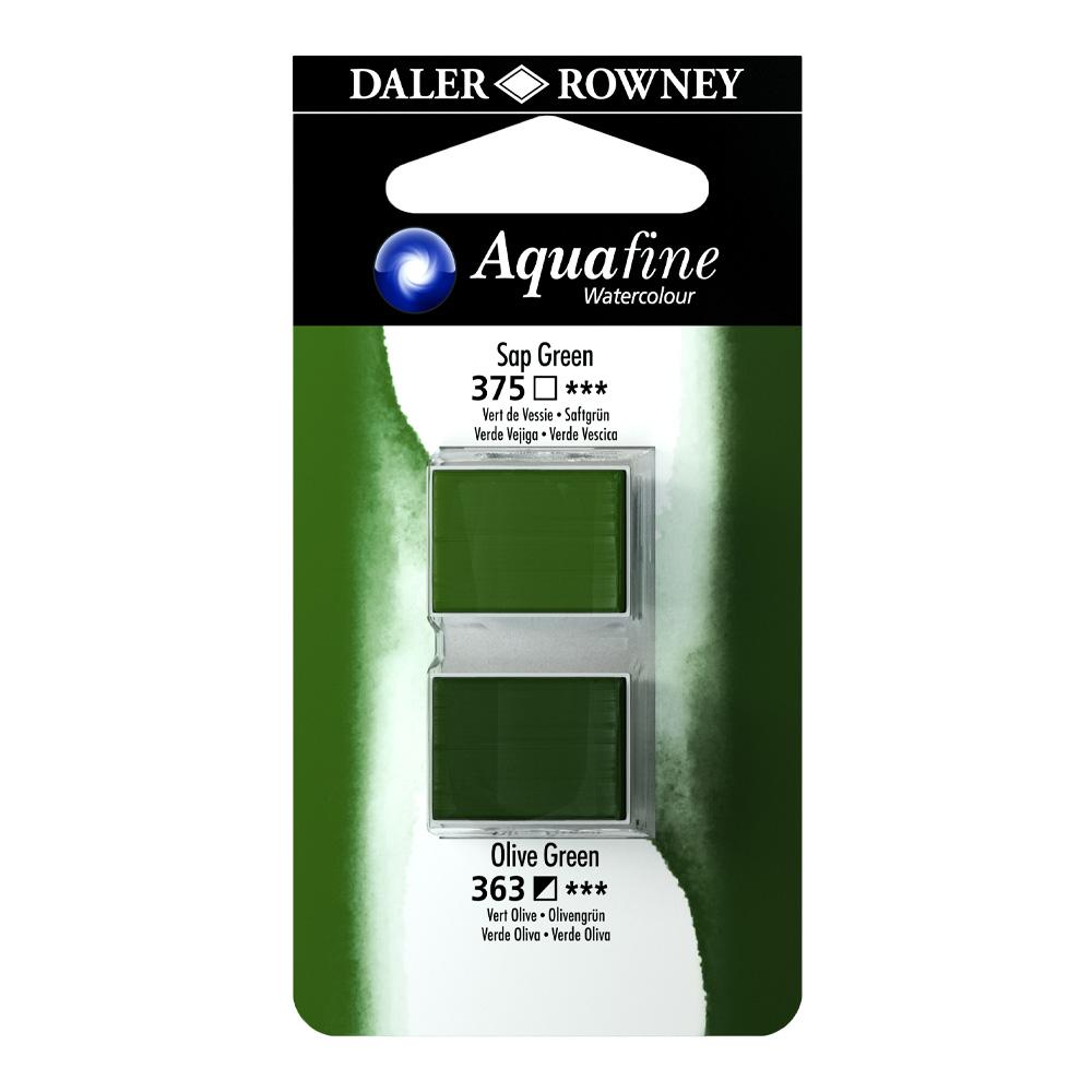 זוג קוביות צבעי מים 375/363 ירוק זית