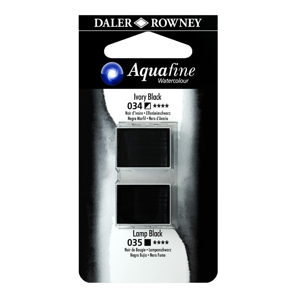 זוג קוביות צבעי מים 034/035 שחורים