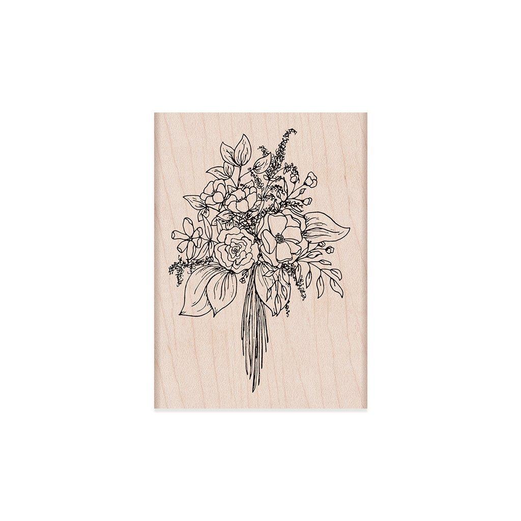 חותמת עץ - BOUQUET