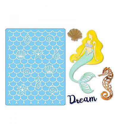 סט תבניות חיתוך והבלטה - Dream Mermaid