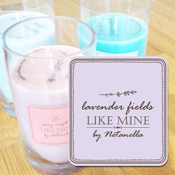 נר צילינדר גדול - Lavender Fields