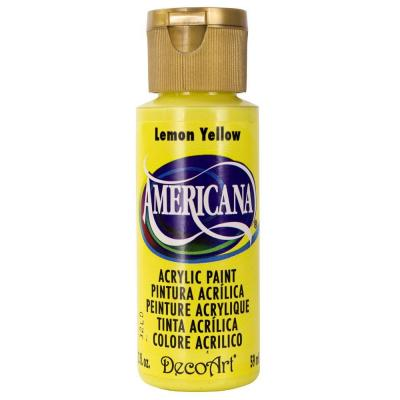 Americana Acrylic Paint - Lemon Yellow