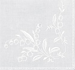 White Lily of the Valley Hemstitched Hankie