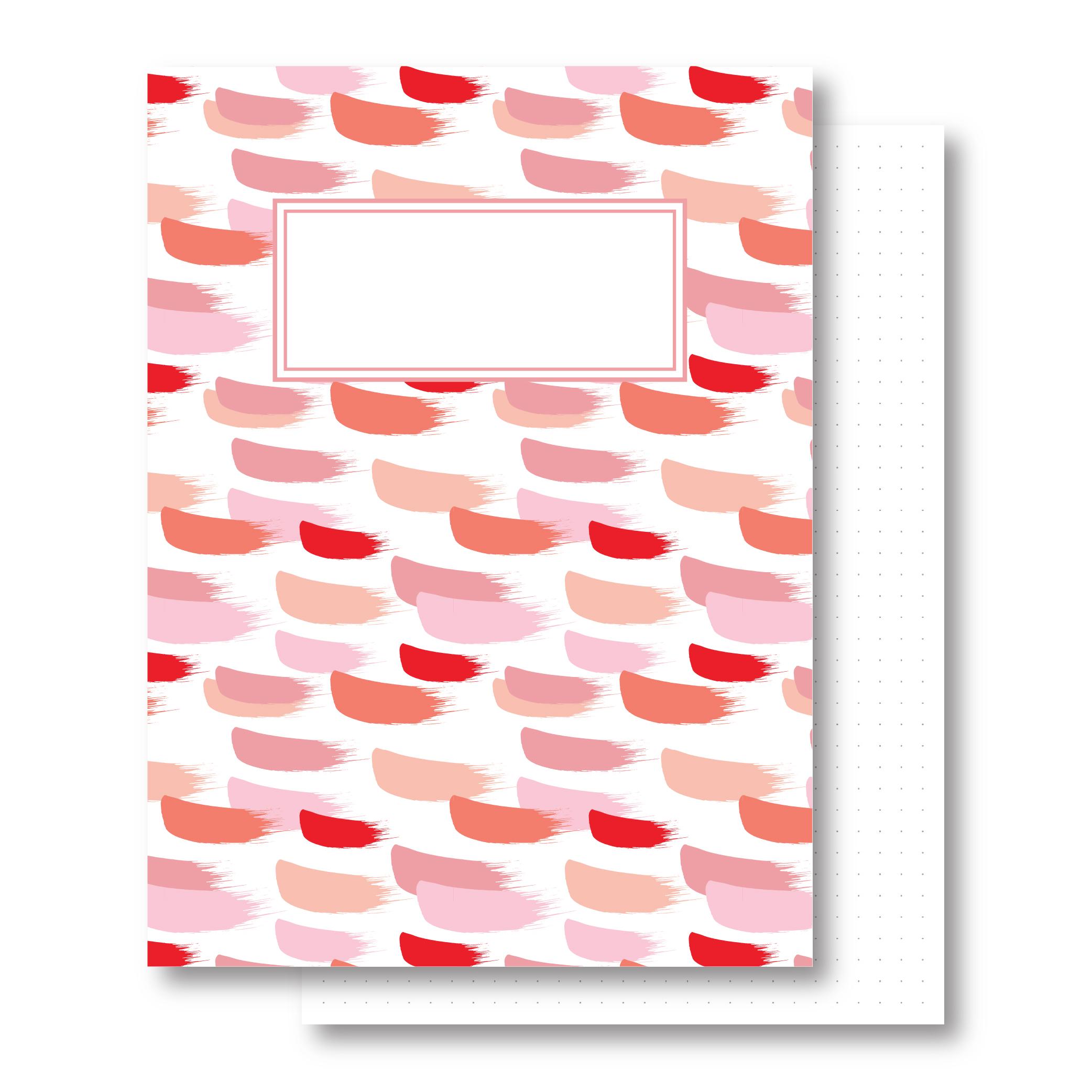 מחברת כריכה קשה - Lipstick - דפים מנוקדים
