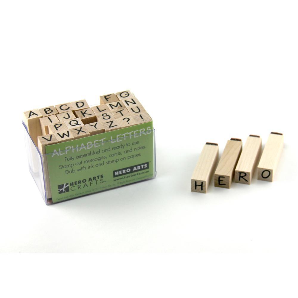 סט חותמות עץ - TINY CLASSIC LETTERS