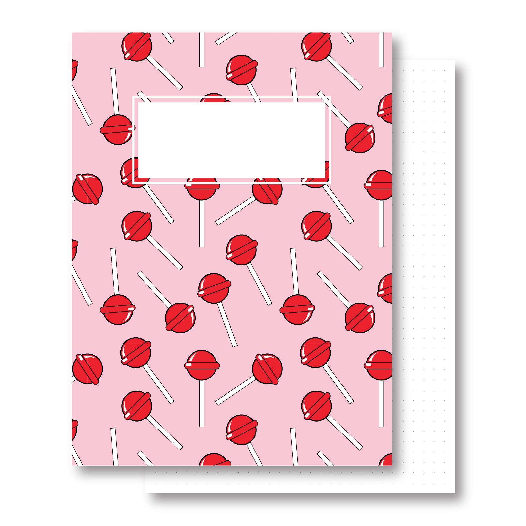 מחברת כריכה קשה - Lollipop - דפים מנוקדים