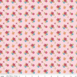 בד כותנה - C4365 -Dandy Petals Pink