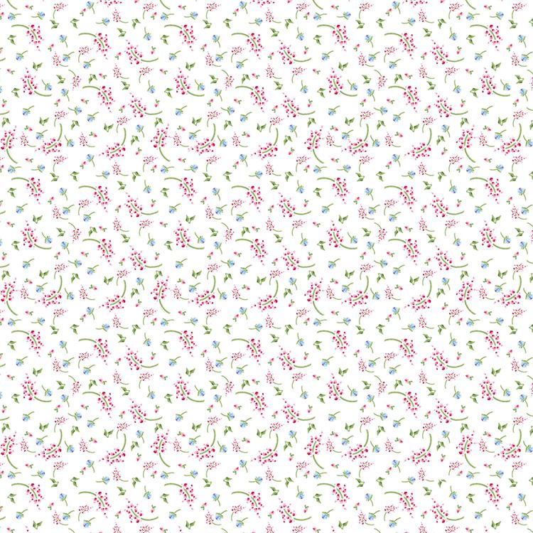 דף קארדסטוק - אהבה - פרחוני קטן רקע לבן