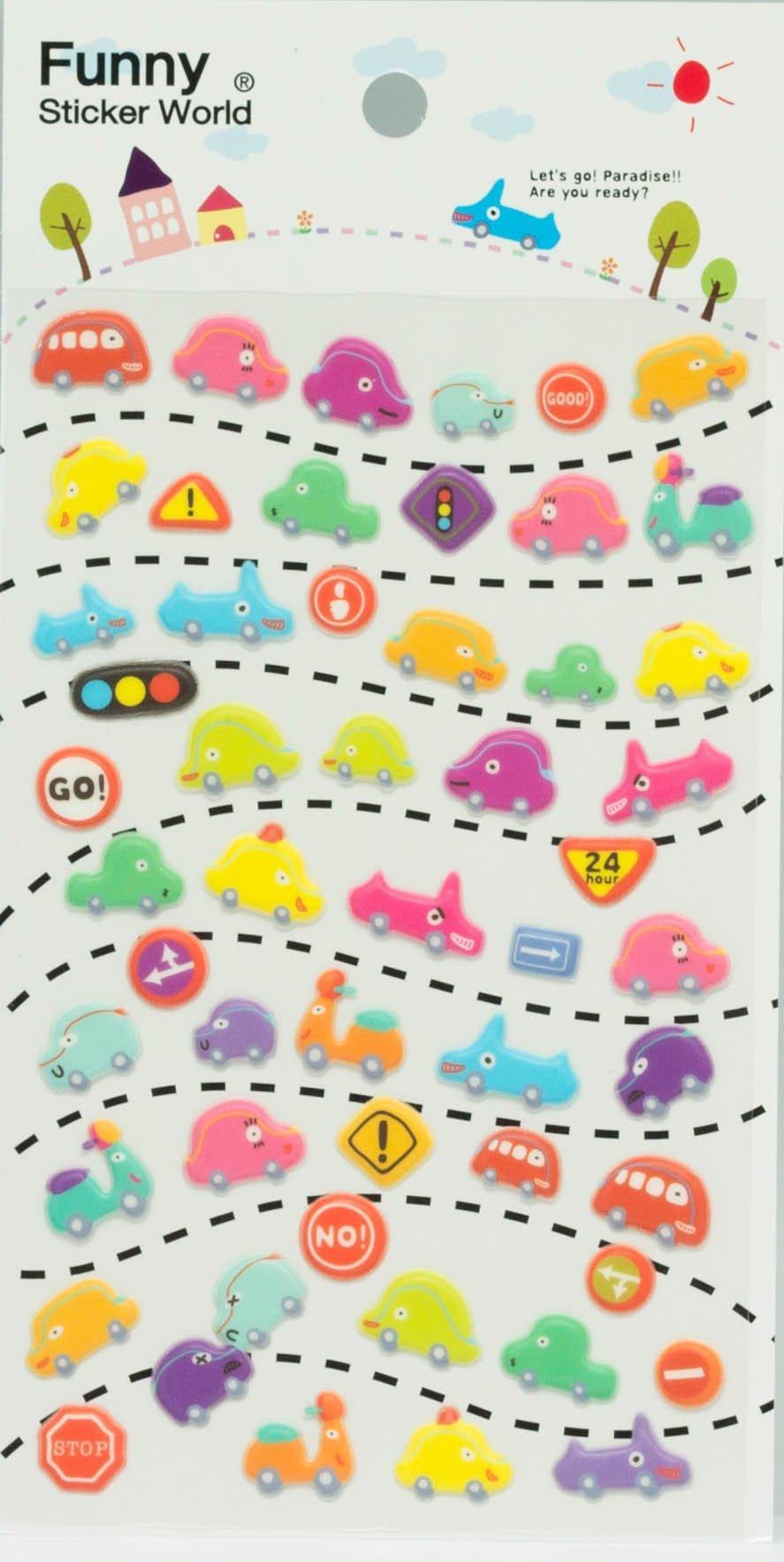 מדבקות פאף- Funny Sticker World - Let's Go!